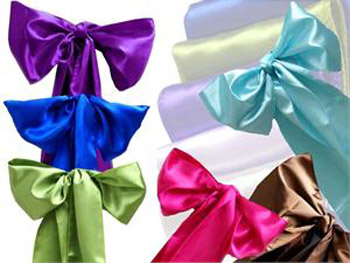 Satin Sashes - Events & Themes - satin sashes for rent wedding chair covers